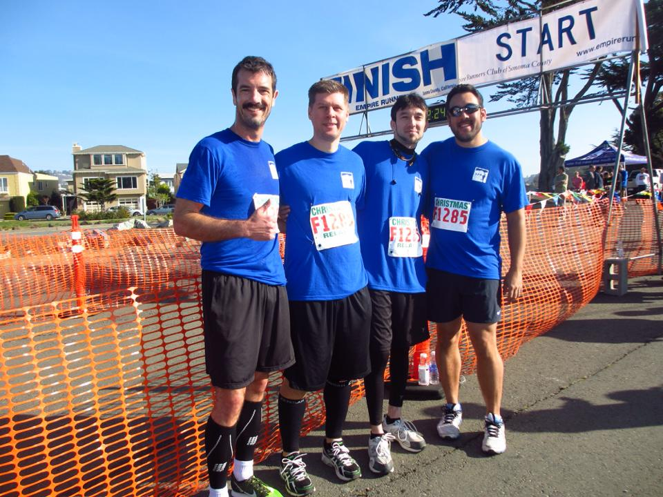 The guys before the Christmas Relays in San Francisco
